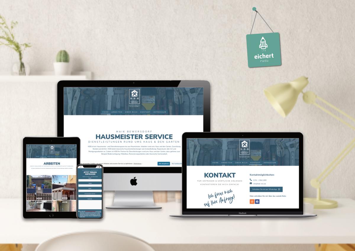 Projekt: Website für Hausmeisterservice aus Neumünster