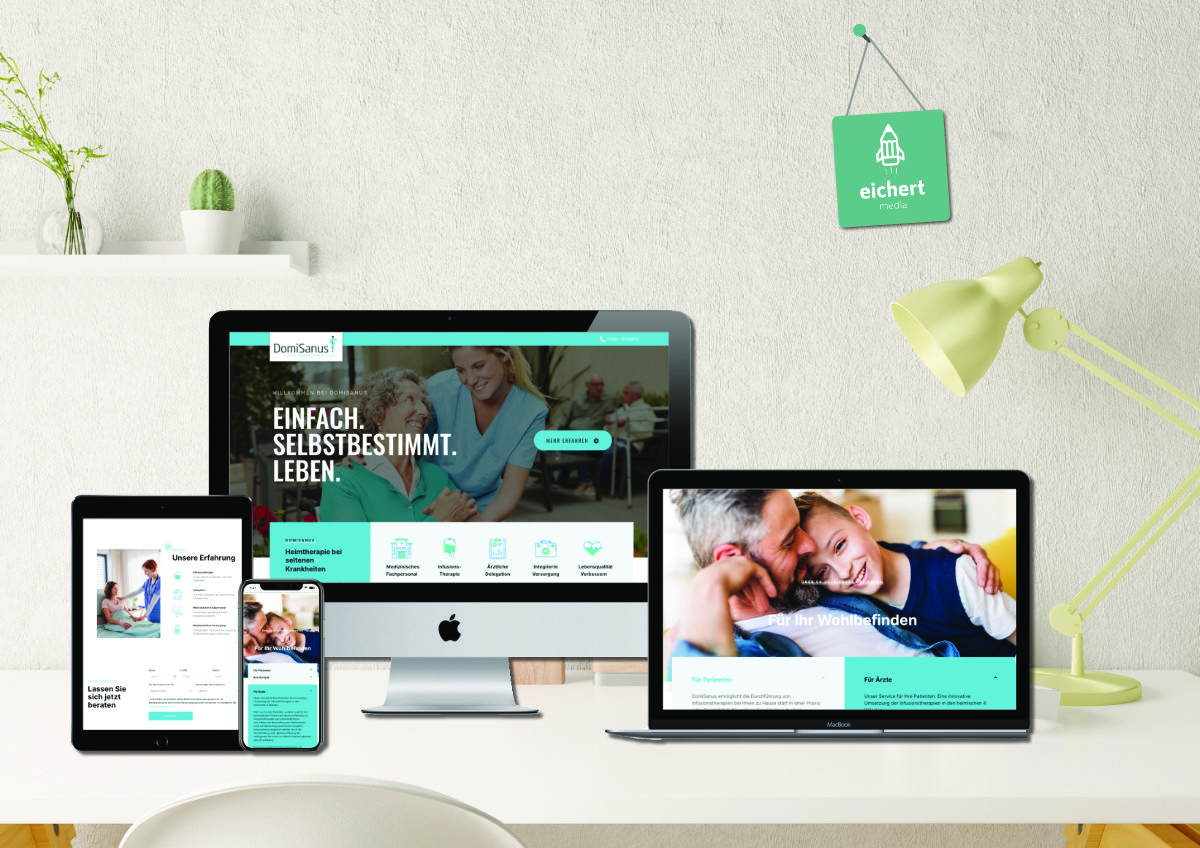 Projekt: Neue Website für Domisanus Heimtherapien